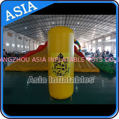 Inflatable Buoys , Cylinder Shape For Water Triathlons Advertising