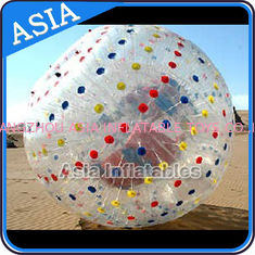 PVC / TPU Hand Art Work Color Dots Zorb Ball For Water Sports Games