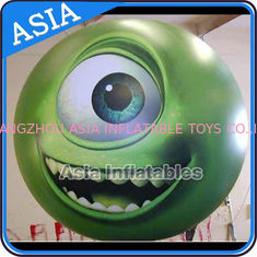 Large Inflatable Helium Balloon with UV protected printing , Sphere with Eyes Logo