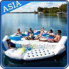 0.9mm Durable PVC Tarpaulin Inflatable Island Floating Lounge आपूर्तिकर्ता