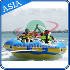 Sealed Towable 4 Person Inflatable Boats Yellow / Blue Rolling Donut Boat आपूर्तिकर्ता