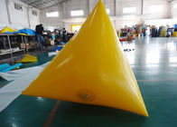 Triangle Shape Yacht Race Market Inflatable Buoys For Water Triathlons Advertising आपूर्तिकर्ता