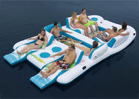 Party Inflatable Floating Island For Beach Vacation , Inflatable Lounge For Lake आपूर्तिकर्ता