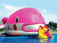 Water Floating Games, Inflatable Obstacle Course In Pink Whale Model आपूर्तिकर्ता