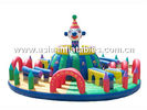 Inflatable Roung Playground With A Towen In Center For Chilren Amusement Park आपूर्तिकर्ता