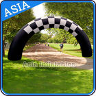 Beautiful Welcome Inflatable Arch Door With Black And White Color For Park आपूर्तिकर्ता