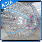 Ce Certificated Transparent Inflatable Zorb Ball In Clear With Color Stirps आपूर्तिकर्ता