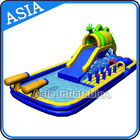 Outdoor  Inflatable Water Park Slide With Swimming Pool , Inflatable Aviva Water Park