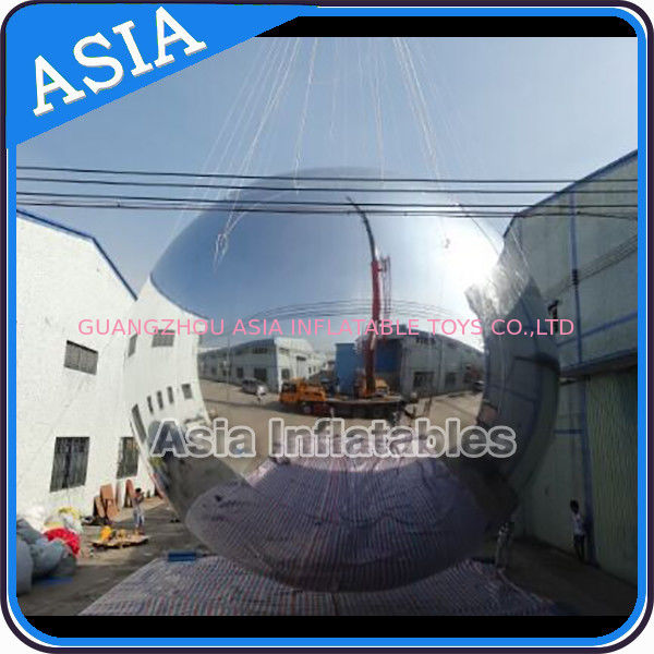 Silver Customized 8m Advertising Inflatable Commercial Mirror Balloon आपूर्तिकर्ता