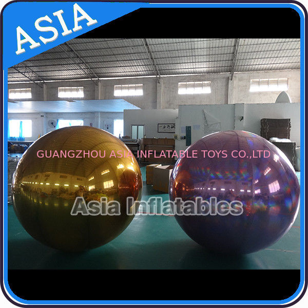 Custom Made Inflatable Purple Mirror Balloon For Advertising Decoration आपूर्तिकर्ता