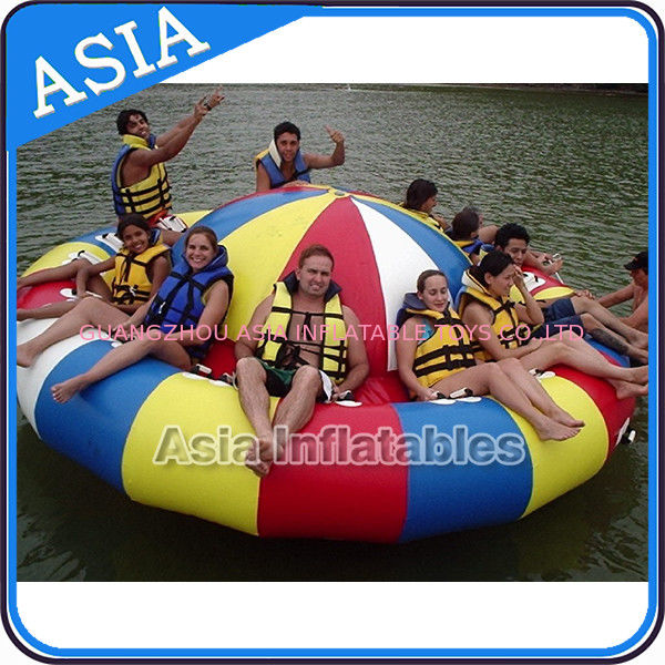 Fireproof 3m Inflatable Disco Boat With 8 Seats Pvc Inflatable Water Games आपूर्तिकर्ता