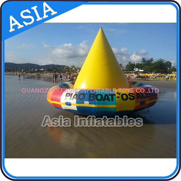 UL Approval 4m Floating Spin Inflatable Boats / Water Discoboat For Water Game आपूर्तिकर्ता