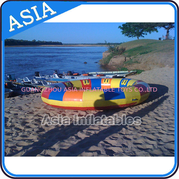 Waterproof 10 Person Round / Disc Inflatable Disco Boat Hot Welding With Blowers आपूर्तिकर्ता