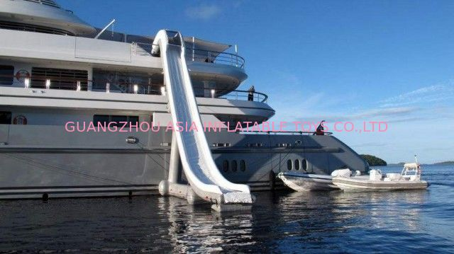 Customized Water Slide Inflatable Water Sports on yacht 0.90mm Pvc Tarpaulin आपूर्तिकर्ता