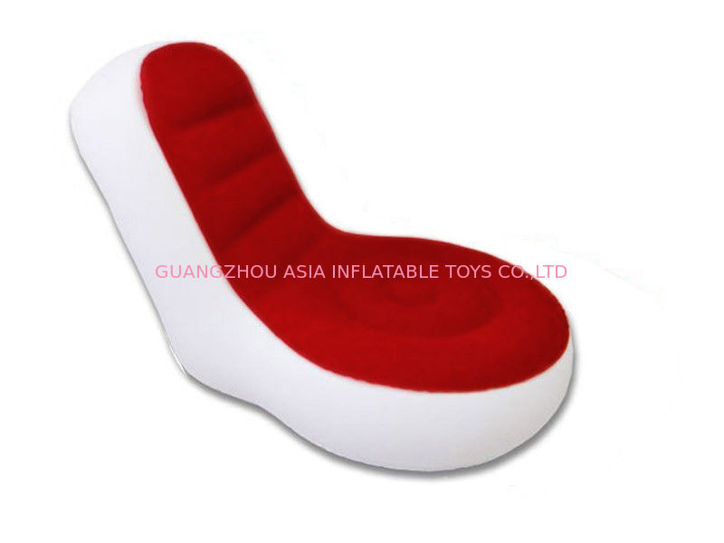 Light Weight 0.6mm Pvc Tarpaulin  Inflatable Chair Sofa With Red And White Color आपूर्तिकर्ता