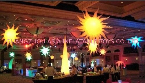 Led Light Inflatable ,Colourful Inflatable Star Lights For Event Decoration आपूर्तिकर्ता