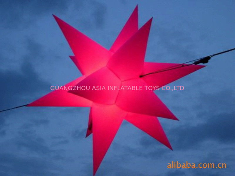 Color Star Inflatable Lighting With Red  For Christmas Decoration आपूर्तिकर्ता