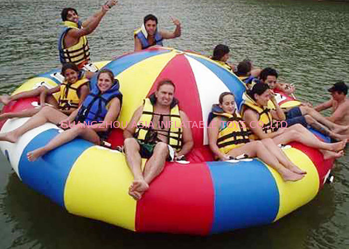 8 - 10 Person Inflatable Disco Boat Motorized Toys Semi Boat , Water Spinner Gyro आपूर्तिकर्ता