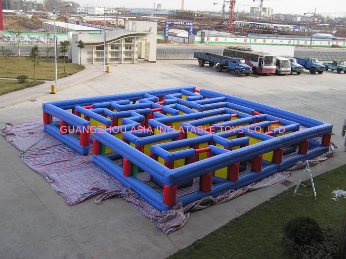 Inflatable Tunnel Maze Game, Inflatable Maze Field For Chilren आपूर्तिकर्ता