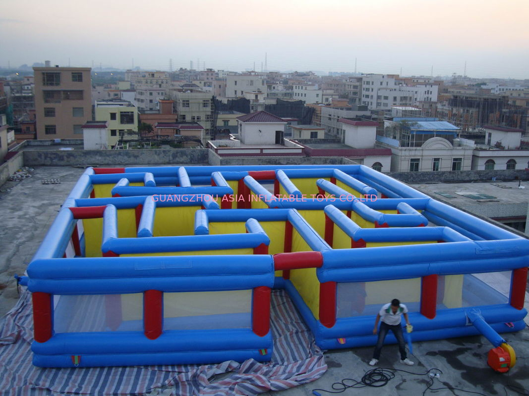 Square Interactive Maze Games, Inflatable Labyrinth Games For Sale आपूर्तिकर्ता