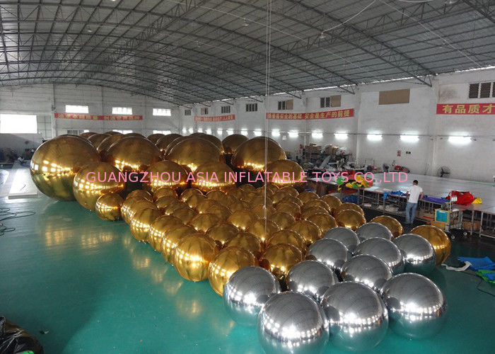 Outdoor Live Concert Advertising Inflatables Decoration Sliver Reflect Inflatable Mirror Balloon आपूर्तिकर्ता