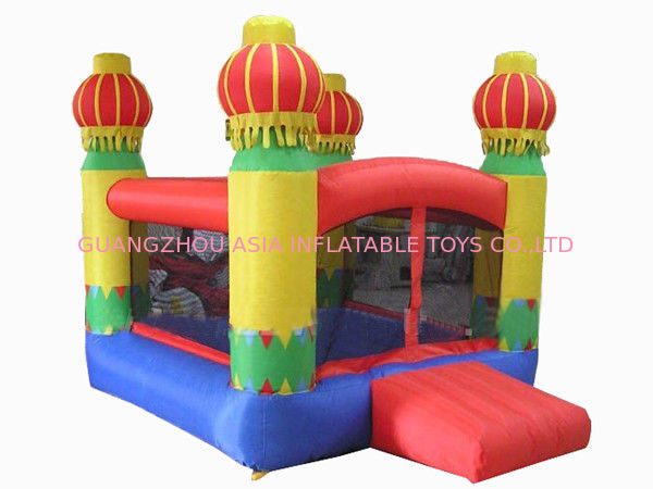 Inflatable Amusement Park Mini Bouncer With Four Lanterns , New Design आपूर्तिकर्ता