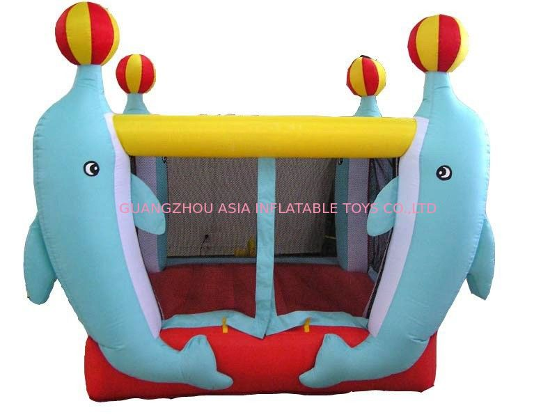 3.5ml Inflatable Amusement Park With Mini Dolphin For Entermainment आपूर्तिकर्ता