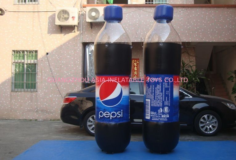 Replicate PVC Inflatable Bottles Pepsi Cola Bottle For Trade Show आपूर्तिकर्ता