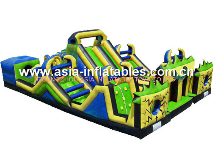 Outdoor Inflatable Playground With Obstacle Course For Chilren Soft Play Games आपूर्तिकर्ता
