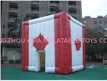 giant inflatable cube tent inflatable canada maple leaves tent आपूर्तिकर्ता