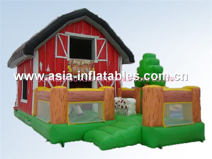 PVC inflatable combos/ inflatable jumping castle bouncy house combo आपूर्तिकर्ता
