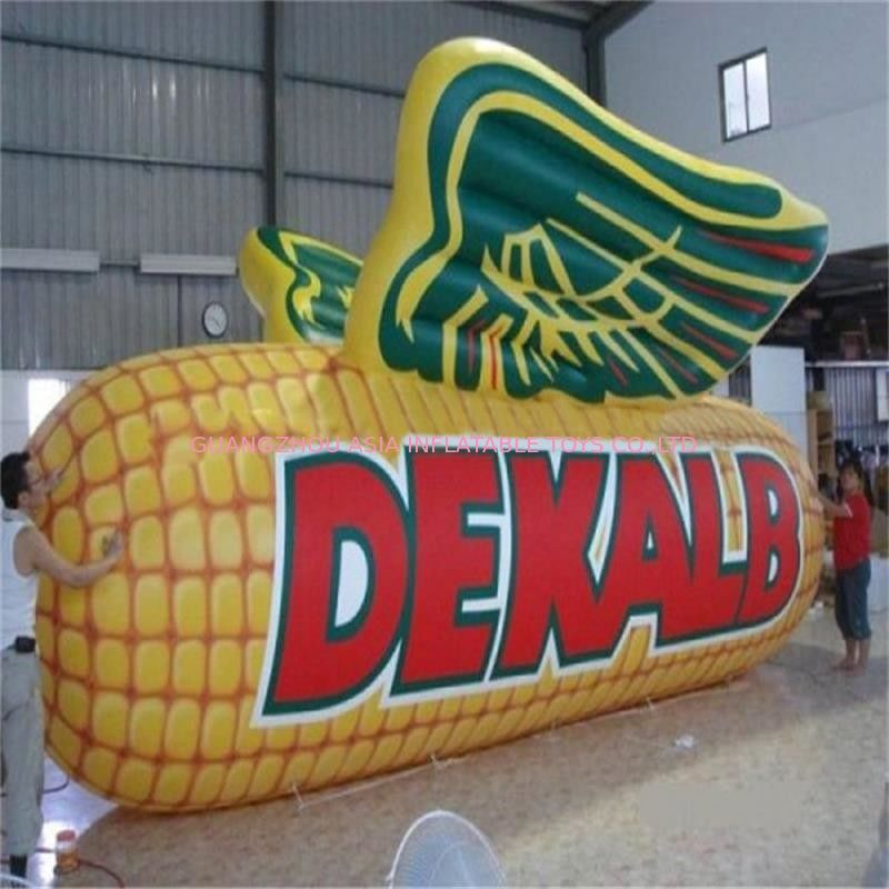 Water Resistant  Inflatable Corn Model / Inflatable Vegetables Logo For Farm
