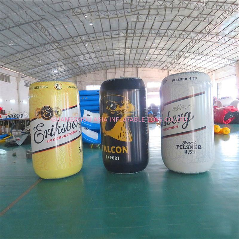 1.7m High PVC Sealed Printing Advertising Inflatables / Blow Up Can