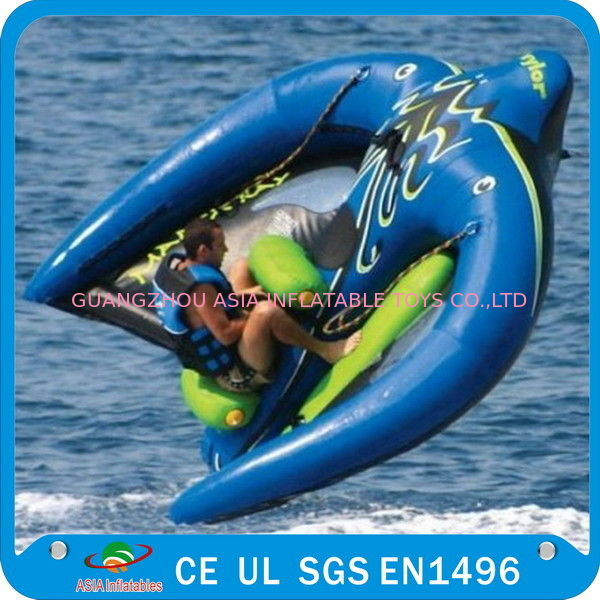 Towable Inflatable Manta Ray Fish Boat, Inflatable Water Park Games आपूर्तिकर्ता