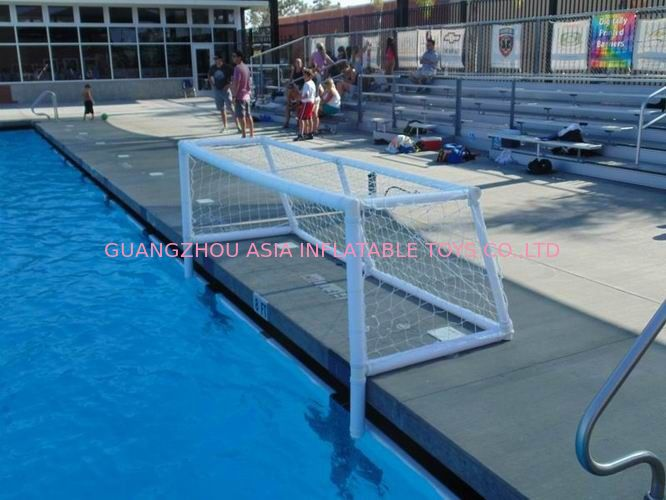 Pure White PVC Inflatable Water Sports , Pool Floating Water Polo Goals आपूर्तिकर्ता