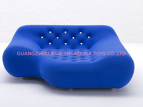 Eco-Friendly Pvc Airtight Advertising Inflatables Air Sofa Chair In Dark Blue Color आपूर्तिकर्ता