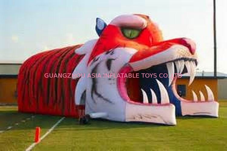 Giant Inflatable Tiger Tunnel, Infaltable Tunnel For Outdoor Advertising आपूर्तिकर्ता