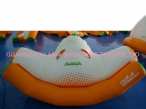 Orange And White Inflatable Rocker With Single Tube For Water Games Amusement आपूर्तिकर्ता