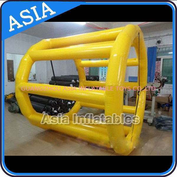 PVC Tarpaulin Inflatable Yellow Water Roller for Kids Pool Water Games आपूर्तिकर्ता