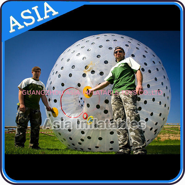 Inflatable Color Dots Aqua Zorbing Ball Played On Grassland / Water आपूर्तिकर्ता