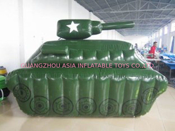 0.6mm / 0.9mm PVC Tarpaulin Fabric Inflatable Paintball Bunker आपूर्तिकर्ता